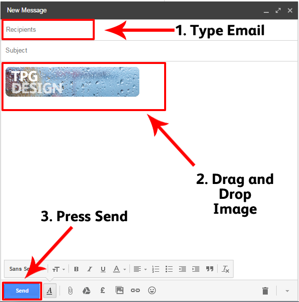 attach image to email