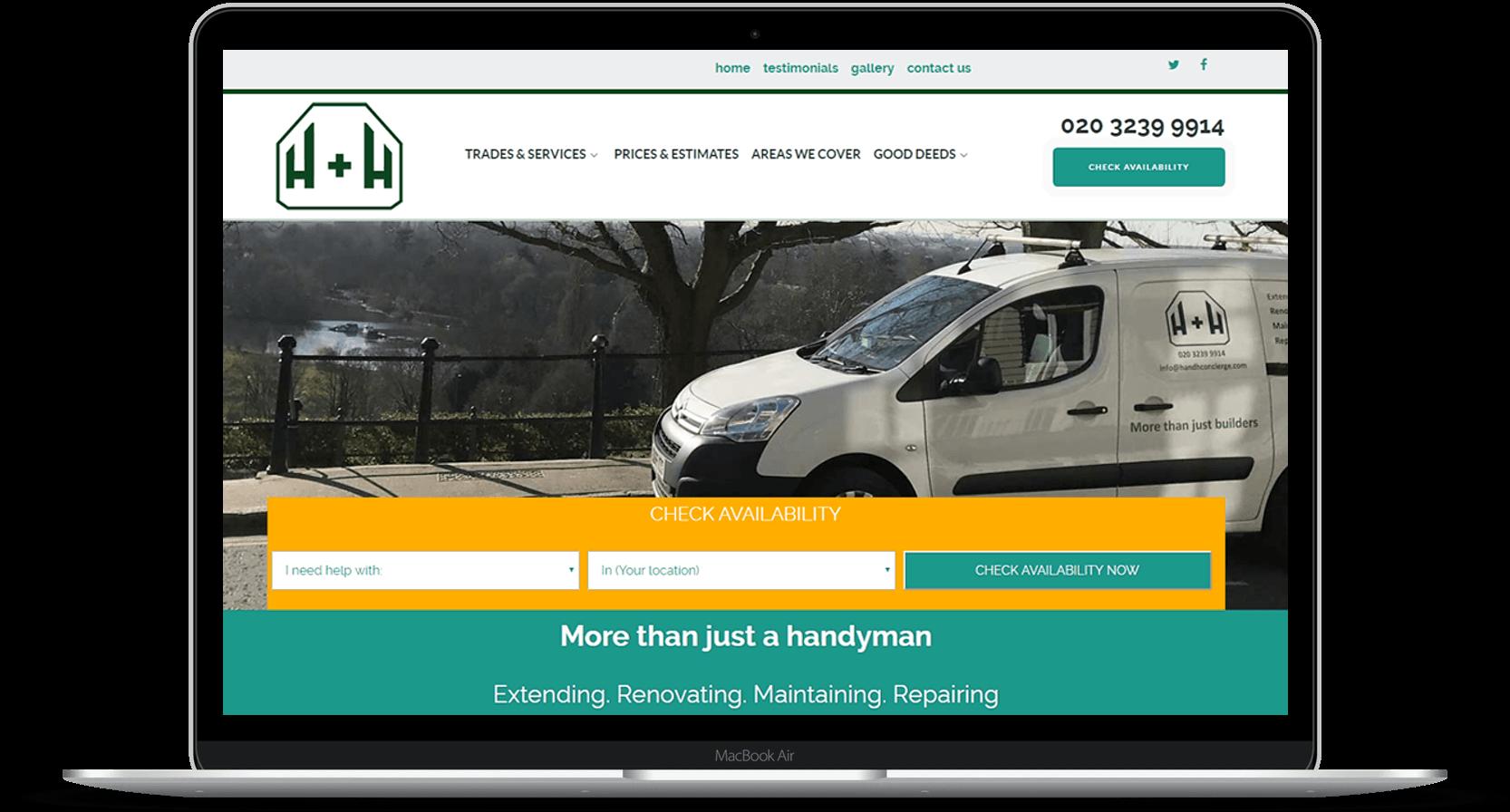 TPG Design Richmond Handyman website